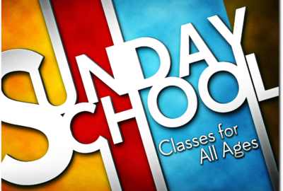 Sunday School is Back in Session Starting September 8 at 9a.m.