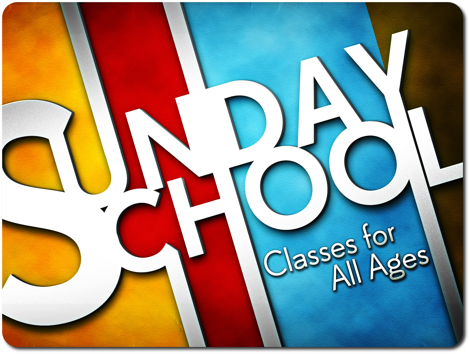 Sunday School is Back in Session!
